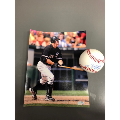 Photo of Jim Thome Autographed Baseball and Photo