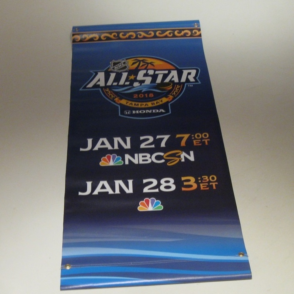 2018 NHL All Star Game Street Pole Banner