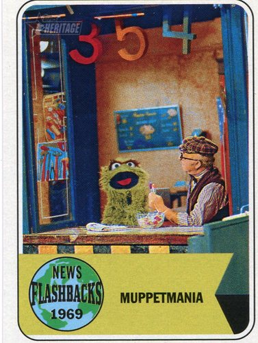Photo of 2018 Topps Heritage News Flashbacks #NF15 Sesame Street Debut