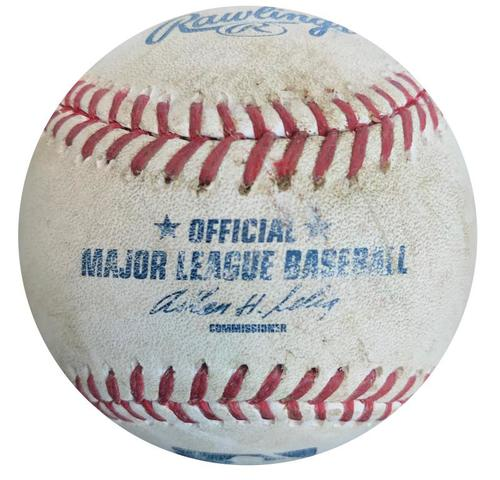 Photo of Game-Used Baseball from Pirates vs. Blue Jays on 5/3/14 - Jose Reyes Double