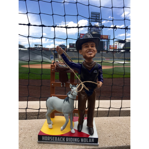 Photo of Nolan Arenado Colorado Life Style Bobblehead - Horseback Riding