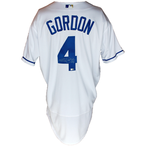 Photo of Autographed White Jersey: Alex Gordon