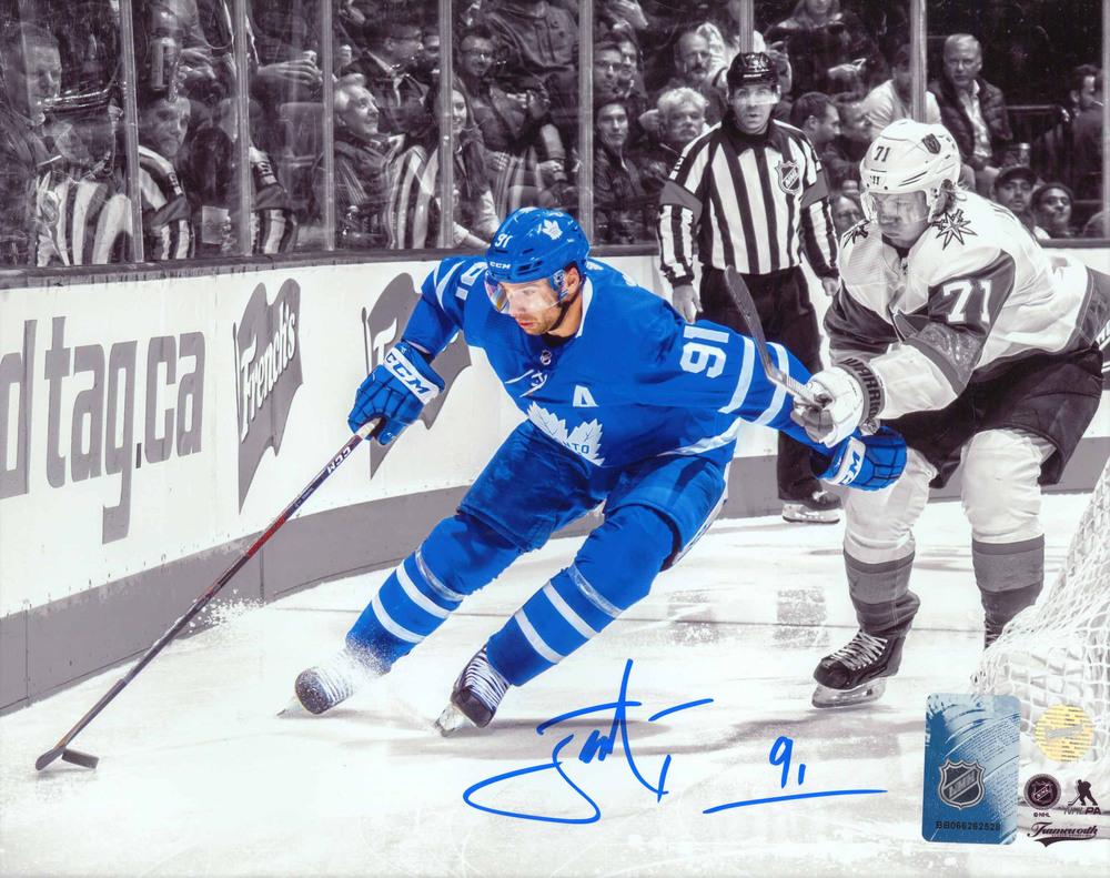 John Tavares Signed 8x10 Unframed Maple Leafs Spotlight vs Vegas