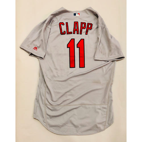 Photo of 2019 Mexico Series Game Used Jersey - Stubby Clapp Size 44 (St. Louis Cardinals)