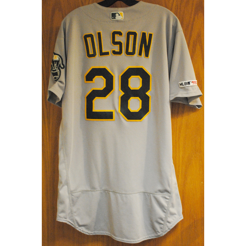 Photo of Matt Olson 2019 Game-Used Jersey (HR #2, 3, 8, 9, 10 & 11)