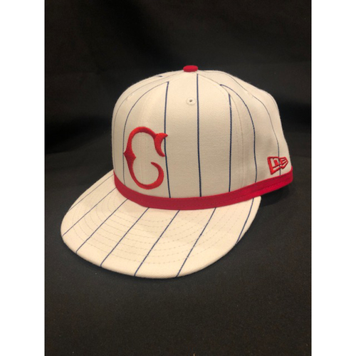 Photo of Delino DeShields -- Game-Used Cap -- 1919 Throwback Game -- Nationals vs. Reds on June 2, 2019 -- Size 7 3/8