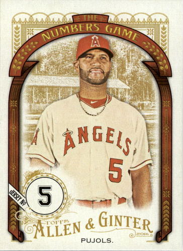 Photo of 2016 Topps Allen and Ginter The Numbers Game #NG54 Albert Pujols