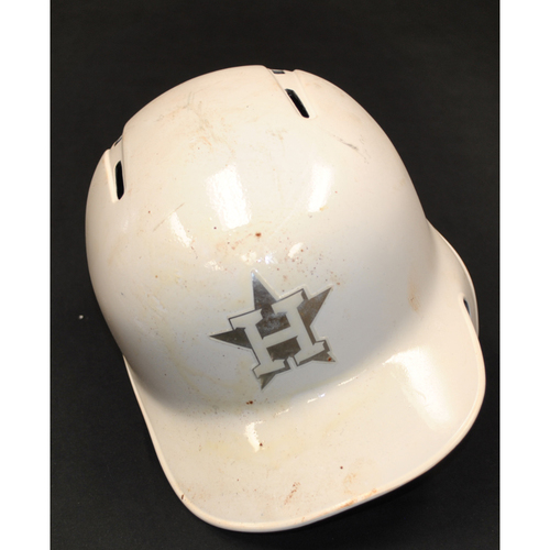 "Photo of Robinson ""PELO BUCHE"" Chirinos Houston Astros Game-Used 2019 Players' Weekend Helmet"