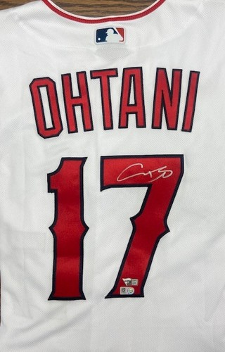 Photo of Shohei Ohtani Autographed Authentic Angels Jersey