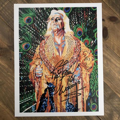 Photo of Ric Flair  SIGNED 11 x 14 Rob Schamberger Print