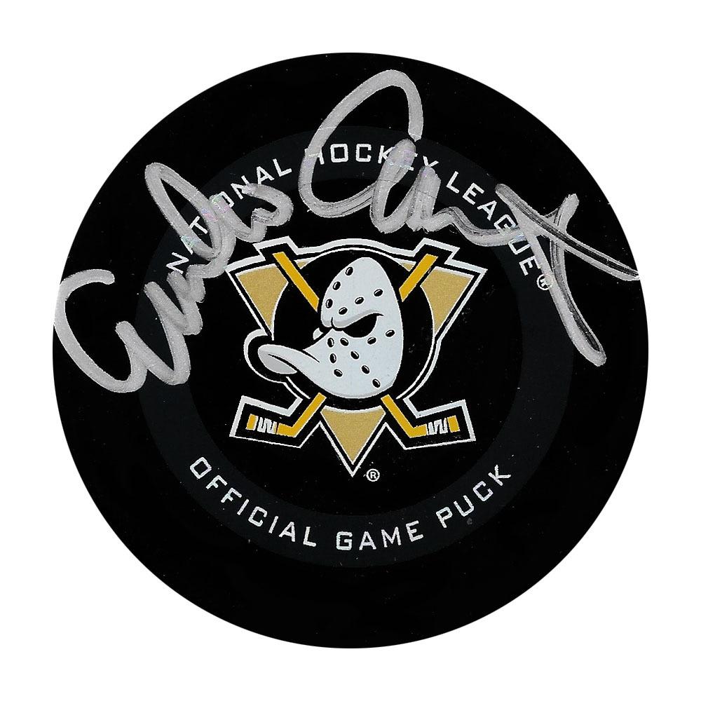 Emilio Estevez Autographed Anaheim Mighty Ducks Official Game Puck