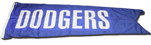 Photo of Wrigley Field Collection -- Scoreboard Flag -- Dodgers