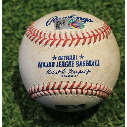 Photo of Game-Used Baseball: Marwin Gonzalez 160th Career Double & 357th, 358th Career RBI's (MIN @ KC 8/23/20)
