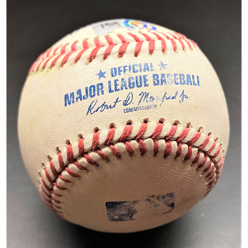 Photo of 2021 Opening Day Game-Used Baseball:  Jonathan Schoop Detroit Tigers Single  (MLB AUTHENTICATED)