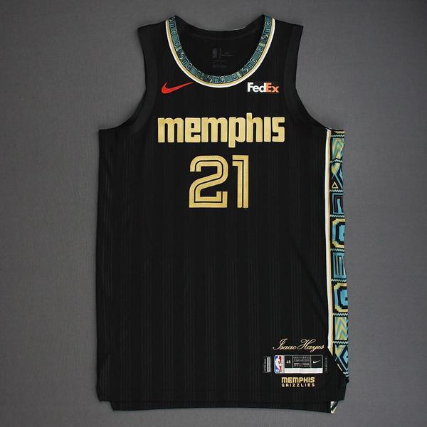 Image of Tyus Jones - Memphis Grizzlies - Game-Worn City Edition Jersey - 2021 NBA Playoffs