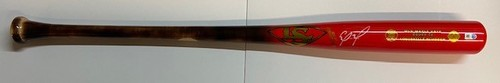 Photo of Eloy Jimenez Autographed Louisville Slugger Player Inspired Fire Department Bat