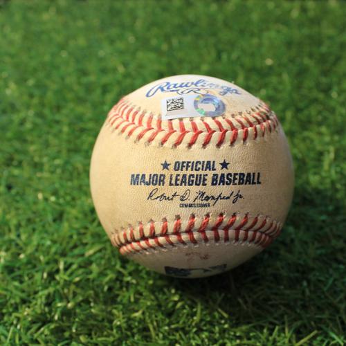 Photo of Game-Used Baseball: Ildemaro Vargas 69th Career Hit (MIN@KC 8/21/20)