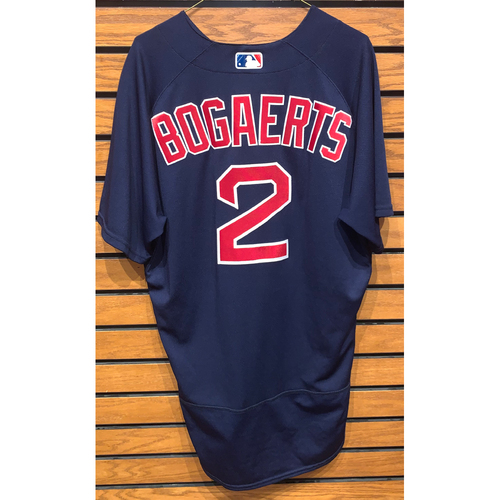Photo of Xander Bogaerts June 15, 2021 Game Used Road Alternate Jersey - 1 for 4 Home Run (13th of the season)