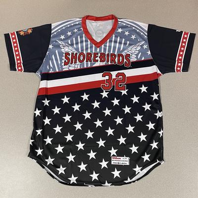 Patriotic Game Worn Autographed Jersey #32 Size 48  Alex Pham