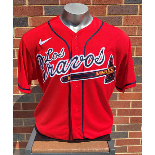 Photo of Stephen Vogt MLB Authenticated Team-Issued Los Bravos Jersey