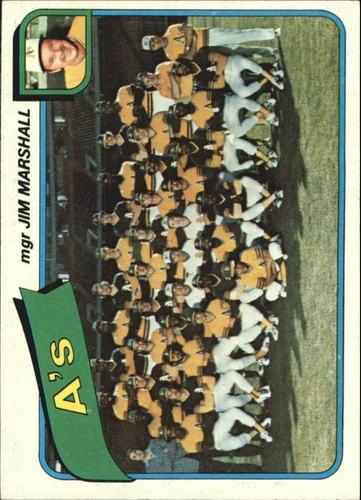 Photo of 1980 Topps #96 Oakland Athletics CL/Jim Marshall MG