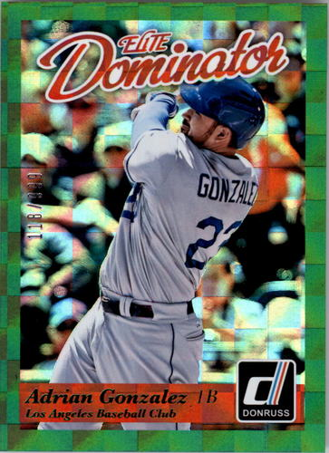Photo of 2014 Donruss Elite Dominator #2B Adrian Gonzalez