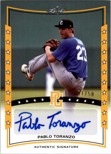 Photo of 2014 Leaf Perfect Game Showcase Autographs Gold #APT1 Pablo Toranzo/50