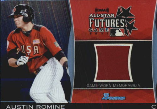 Photo of 2011 Bowman Draft Future's Game Relics Blue #AR Austin Romine
