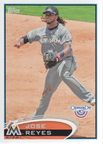 Photo of 2012 Topps Opening Day #201 Jose Reyes
