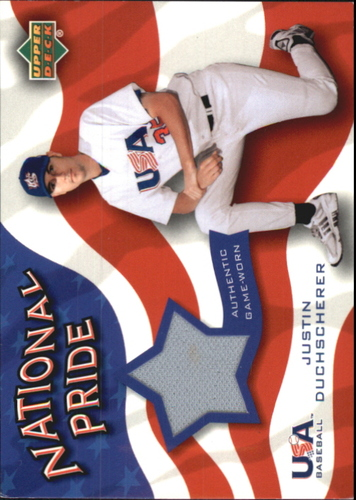 Photo of 2004 Upper Deck National Pride Memorabilia 2 #DUJ Justin Duchscherer Jersey