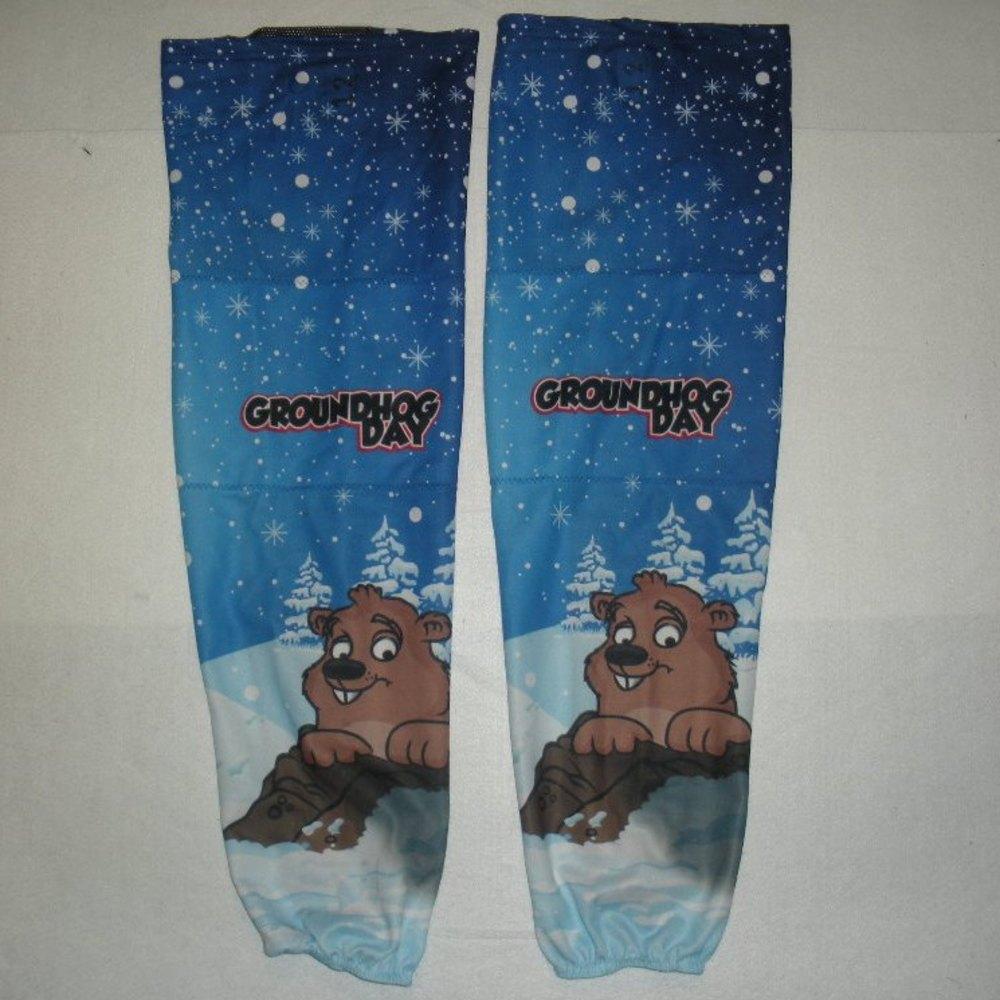 Nathan Walker - Hershey Bears - Groundhog Day Game-Worn Socks