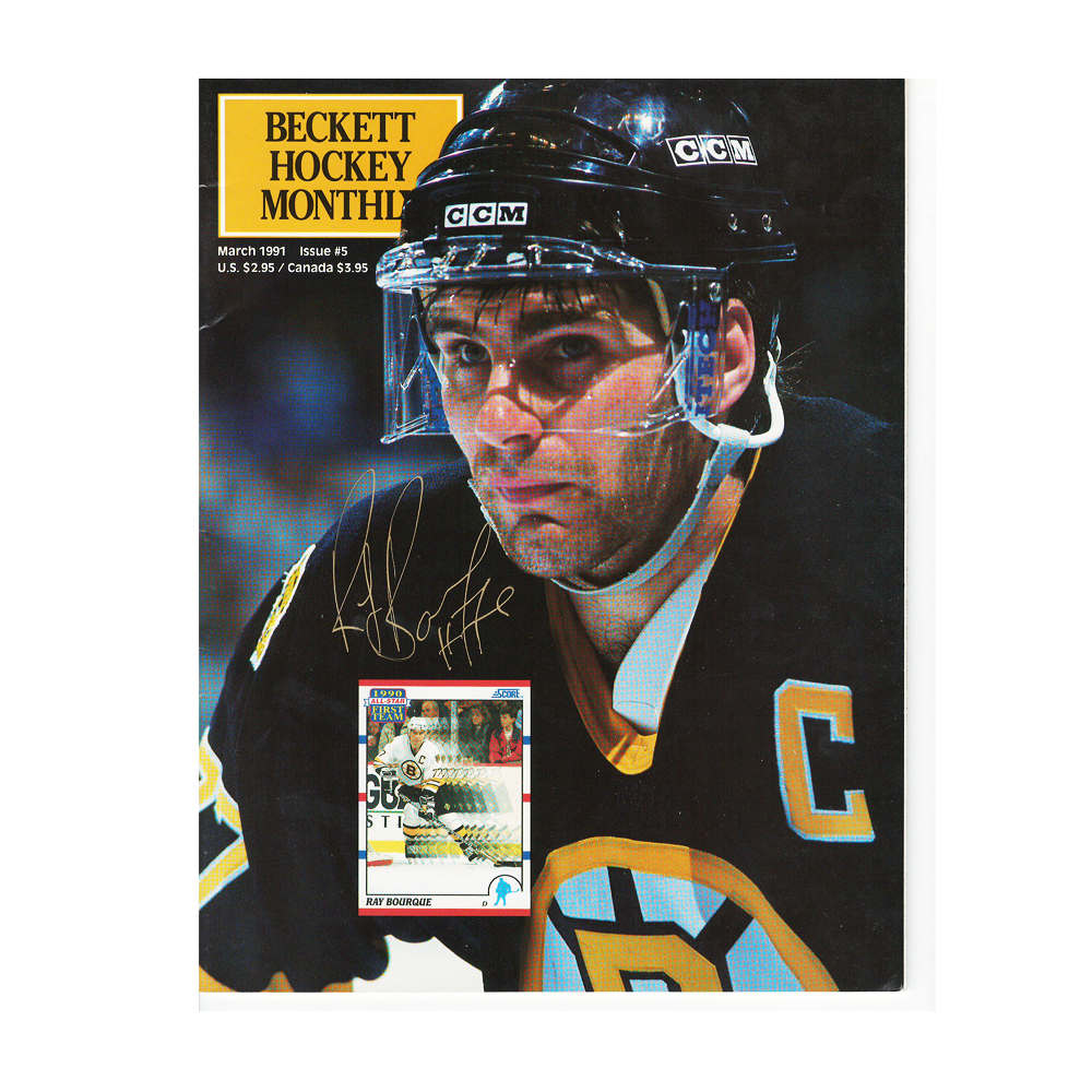 RAY BOURQUE Signed Beckett Magazine March 1991 Issue #5 - Boston Bruins