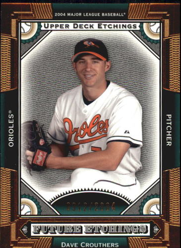 Photo of 2004 Upper Deck Etchings #119 Dave Crouthers FE RC