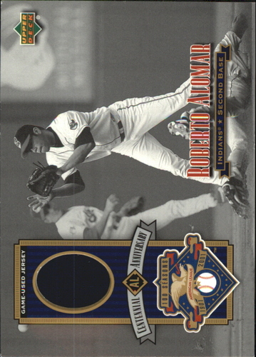 Photo of 2002 Upper Deck AL Centennial Memorabilia #ALJRA Roberto Alomar Jsy