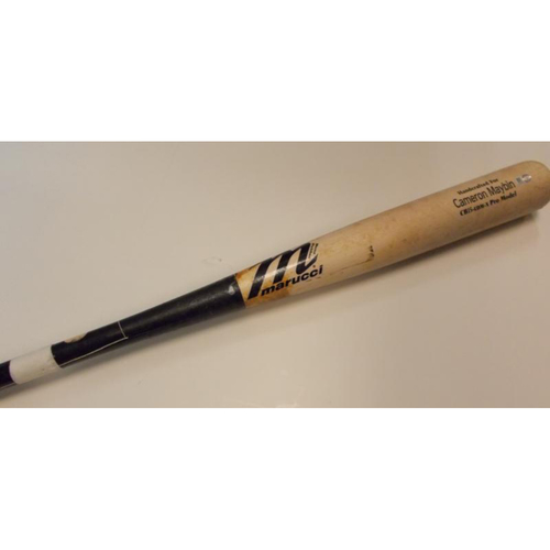 Game-Used & Broken Cameron Maybin Bat