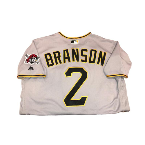 Photo of Jeff Branson Game-Used Road Gray Jersey