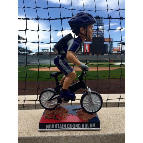 Photo of Nolan Arenado Colorado Life Style Bobblehead - Mountain Biking
