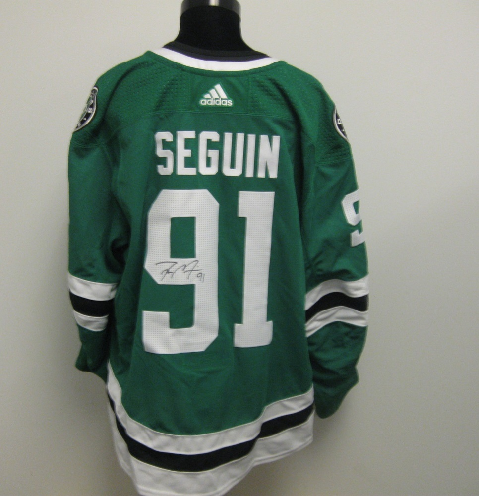 Tyler Seguin Autographed Event Worn Jersey from 2018 Player Media Tour -  Dallas Stars fa0027b75