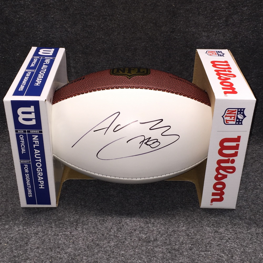 STS - Steelers Alejandro Villanueva signed panel ball