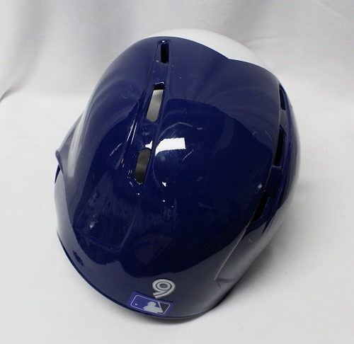 Photo of Authenticated Game Used Helmet - #9 Danny Jansen (Aug 20, 2018: 1-for-4 with 1 Double). Size 7 3/8.