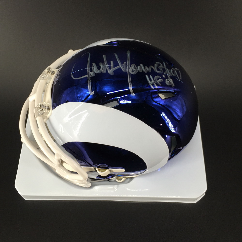 HOF - Rams Jack Youngblood Signed Chrome Mini Helmet