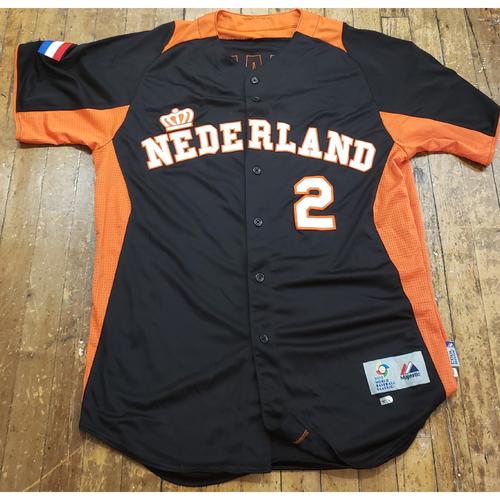 Photo of 2013 World Baseball Classic Game Used Jersey - Roger Bernadina - Size 46 (Netherlands)