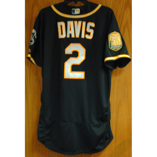 Photo of Khris Davis 2018 Game-Used Jersey (HR #41)