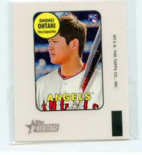 Photo of 2018 Topps Heritage High Number '69 Topps Decals #69TDSO Shohei Ohtani