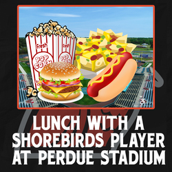 Photo of Lunch with a Shorebirds Player at Perdue Stadium