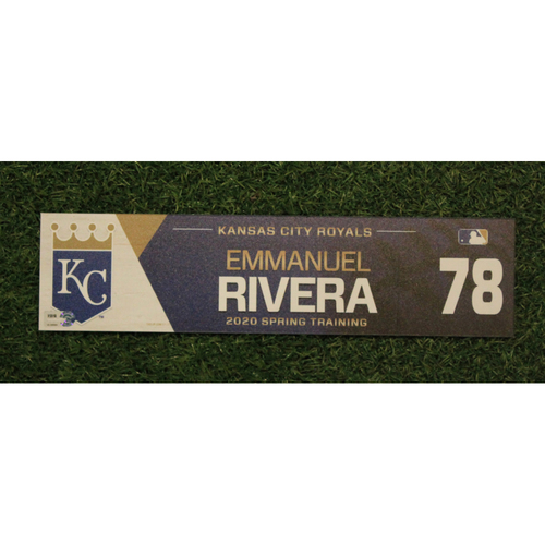 Photo of Game-Used Spring Training Locker Tag: Emmanuel Rivera #78