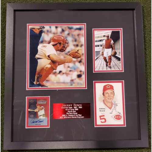Photo of Framed Johnny Bench