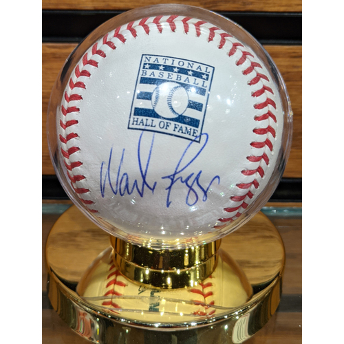 Photo of Wade Boggs Autographed National Baseball Hall of Fame Baseball