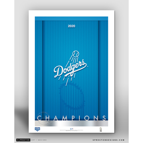 Photo of Los Angeles Dodgers Minimalist World Series 2020 Limited Edition Art Print by S. Preston