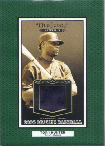 Photo of 2005 Origins Old Judge Materials Jersey #HU Torii Hunter